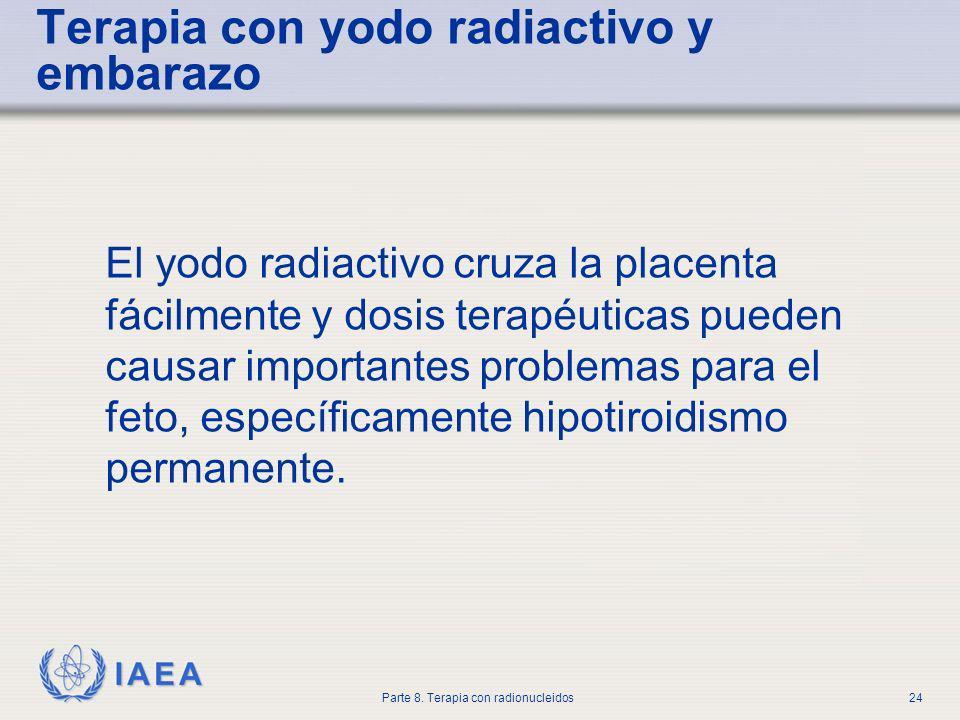 Terapia con yodo radiactivo y embarazo