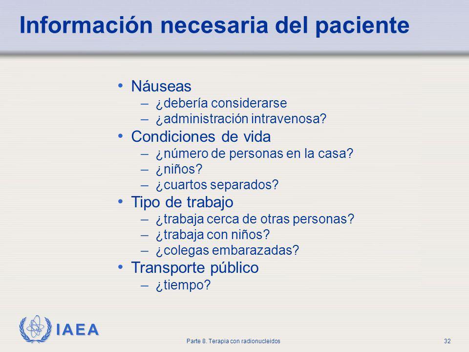 Información necesaria del paciente