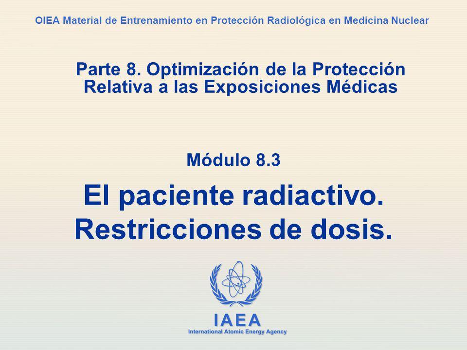 Módulo 8.3 El paciente radiactivo. Restricciones de dosis.