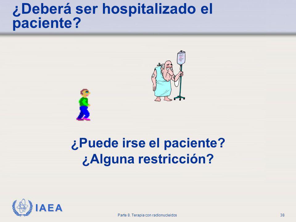 ¿Deberá ser hospitalizado el paciente