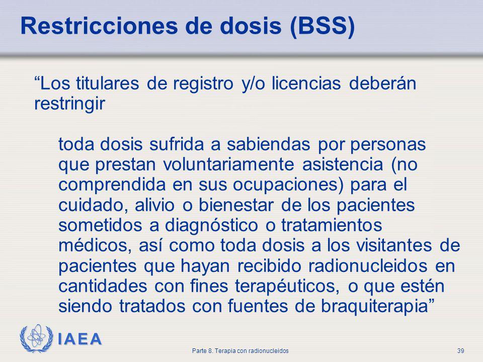Restricciones de dosis (BSS)