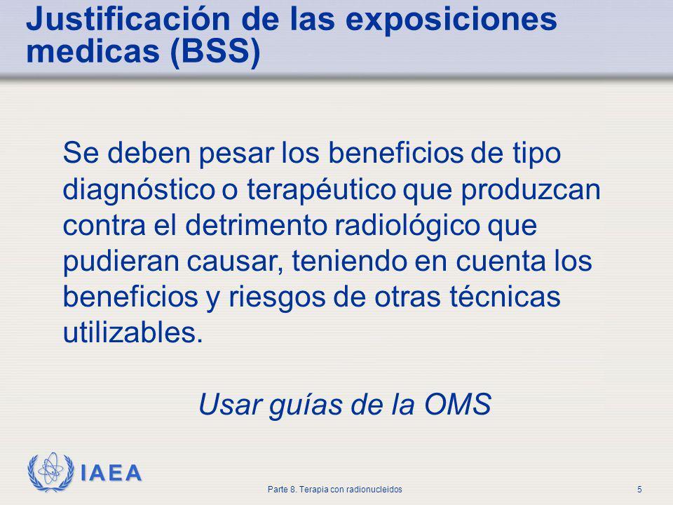 Justificación de las exposiciones medicas (BSS)