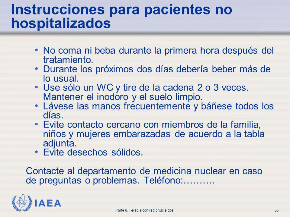 Instrucciones para pacientes no hospitalizados