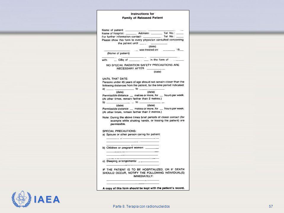 Este es un ejemplo de un formulario que debería ser completado para todo paciente dado de alta dando la necesario información a los miembros de la familia.