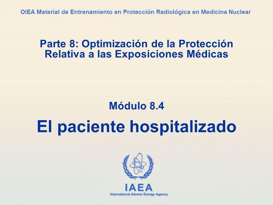 Módulo 8.4 El paciente hospitalizado