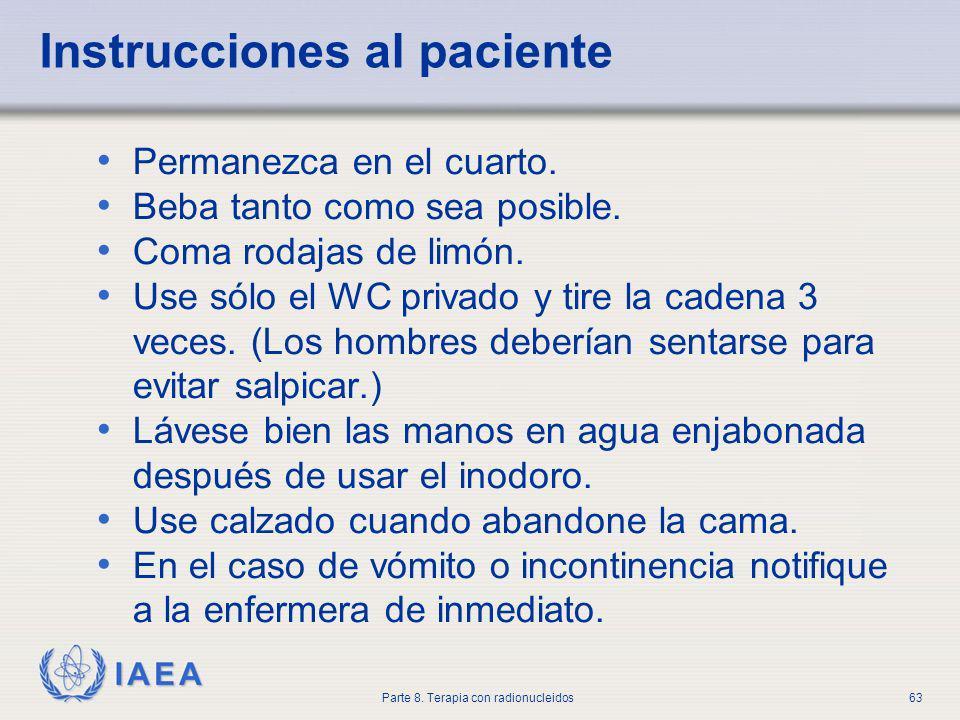 Instrucciones al paciente