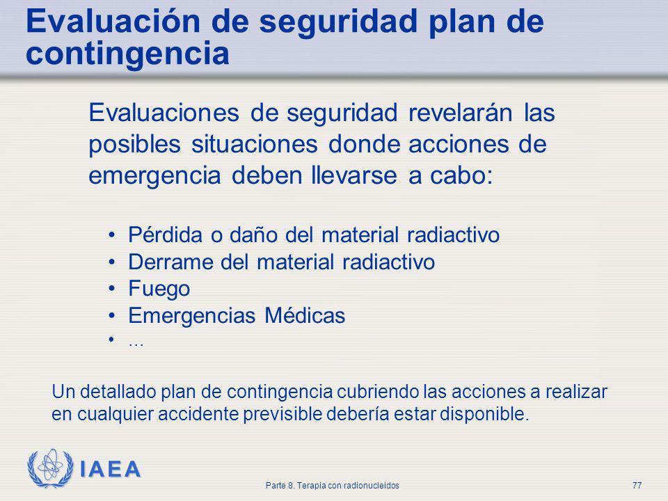 Evaluación de seguridad plan de contingencia
