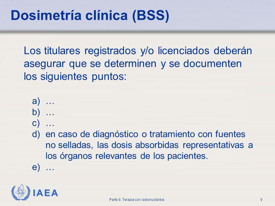 Dosimetría clínica (BSS)