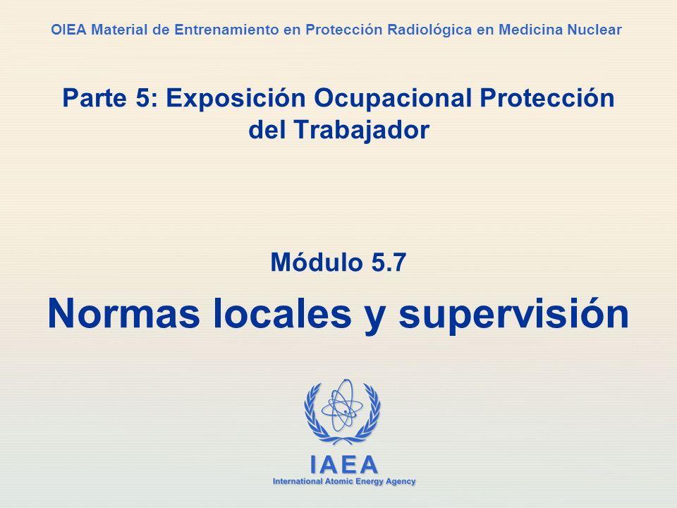 Parte 5: Exposición Ocupacional Protección del Trabajador