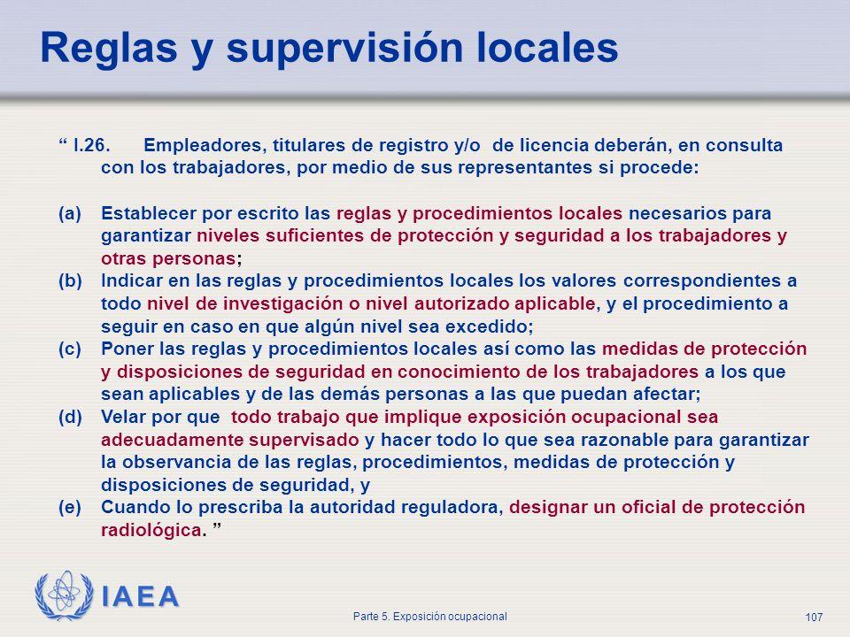 Reglas y supervisión locales
