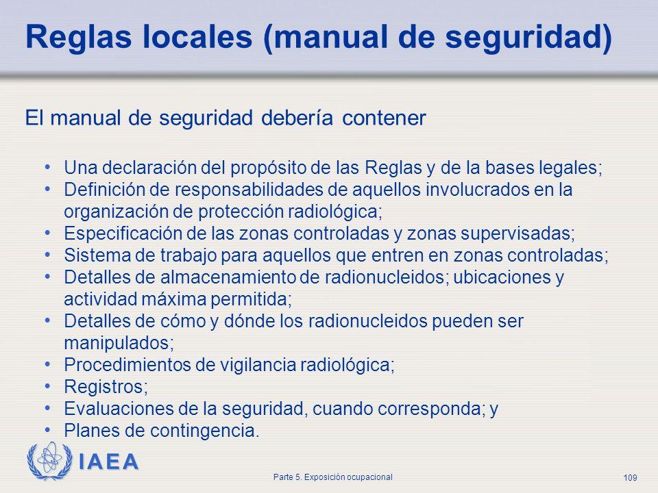 Reglas locales (manual de seguridad)