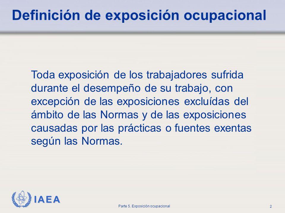 Definición de exposición ocupacional