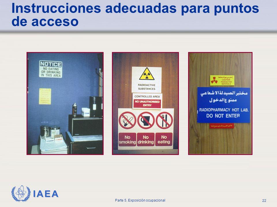 Instrucciones adecuadas para puntos de acceso