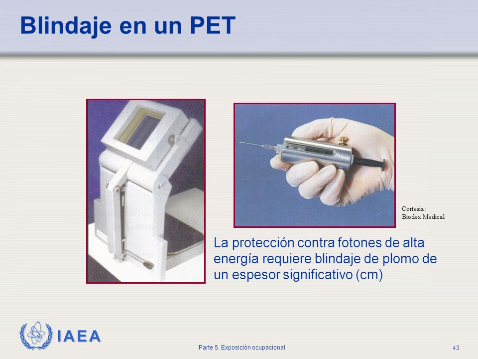 Blindaje en un PET Cortesia: Biodex Medical.