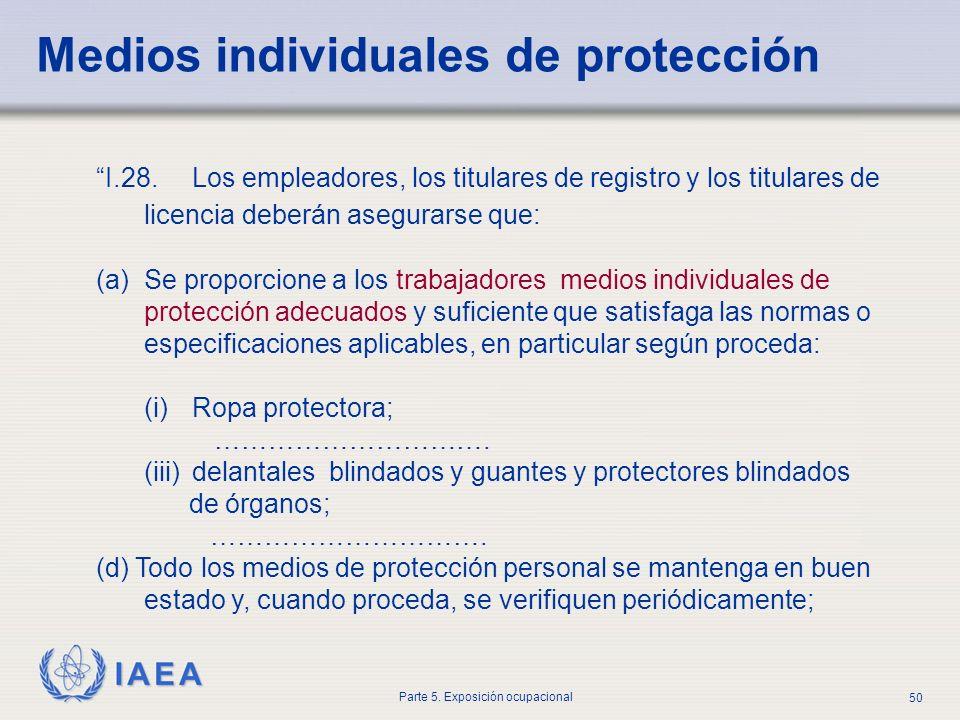 Medios individuales de protección
