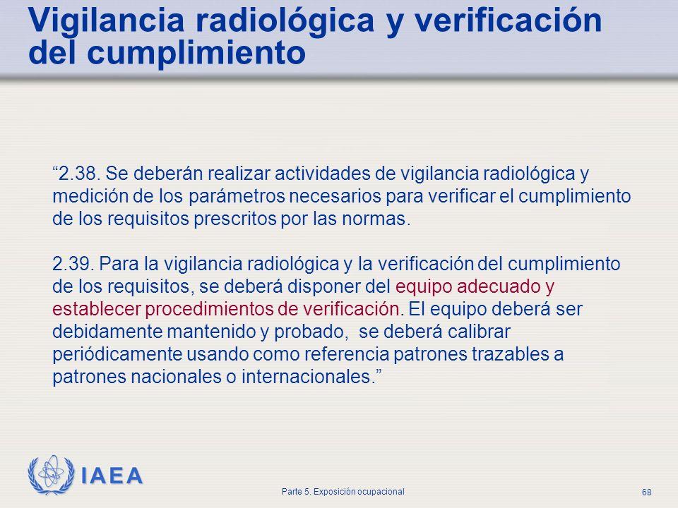 Vigilancia radiológica y verificación del cumplimiento