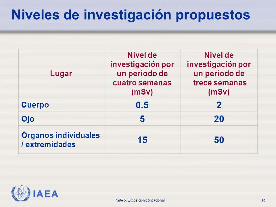 Niveles de investigación propuestos
