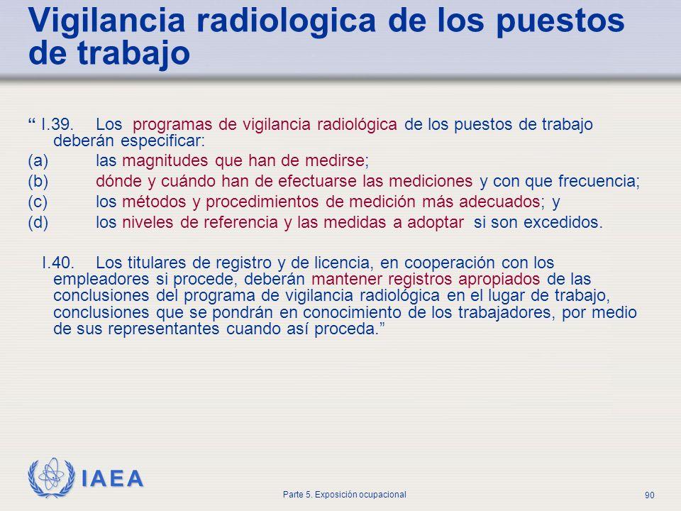 Vigilancia radiologica de los puestos de trabajo