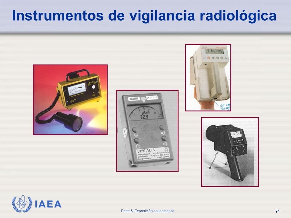 Instrumentos de vigilancia radiológica