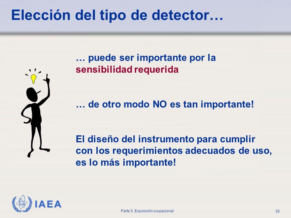 Elección del tipo de detector…