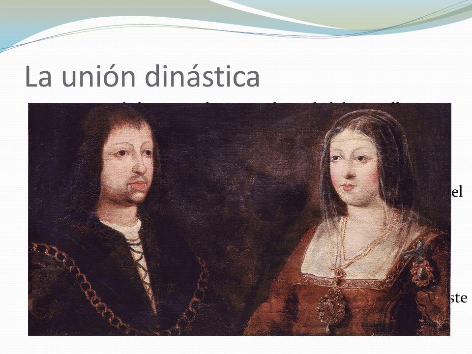 La unión dinástica 1468 Pacto de los Toros de Guisando: Isabel de Castilla princesa de Asturias. Matrimonio autorizado por el rey, Enrique IV.