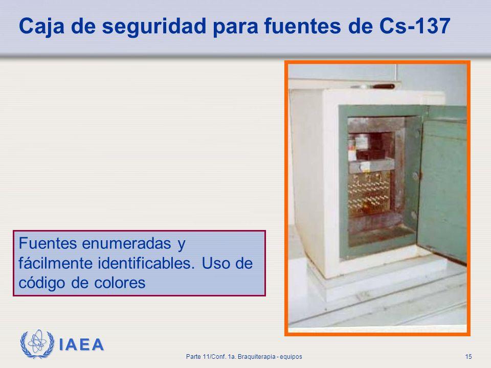 Caja de seguridad para fuentes de Cs-137