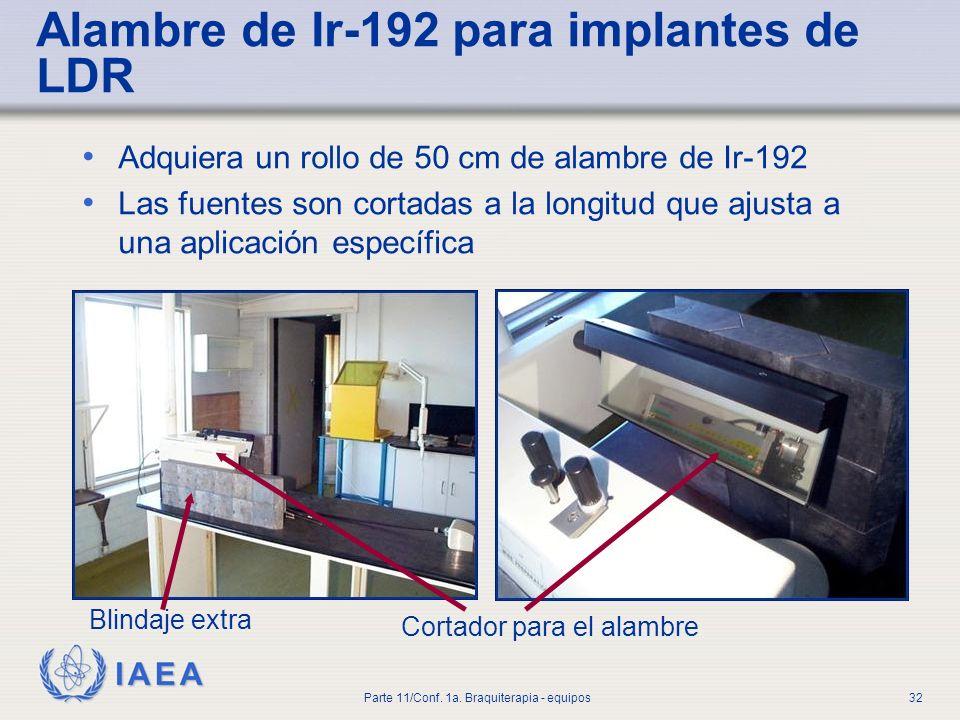 Alambre de Ir-192 para implantes de LDR