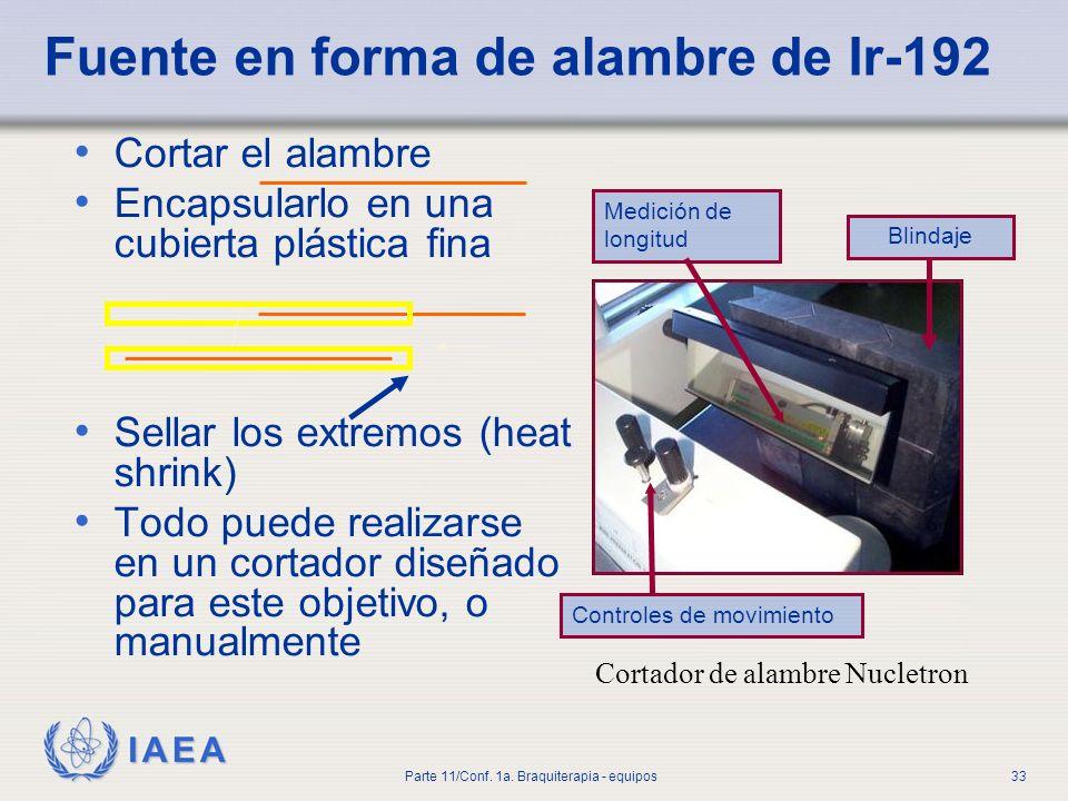 Fuente en forma de alambre de Ir-192