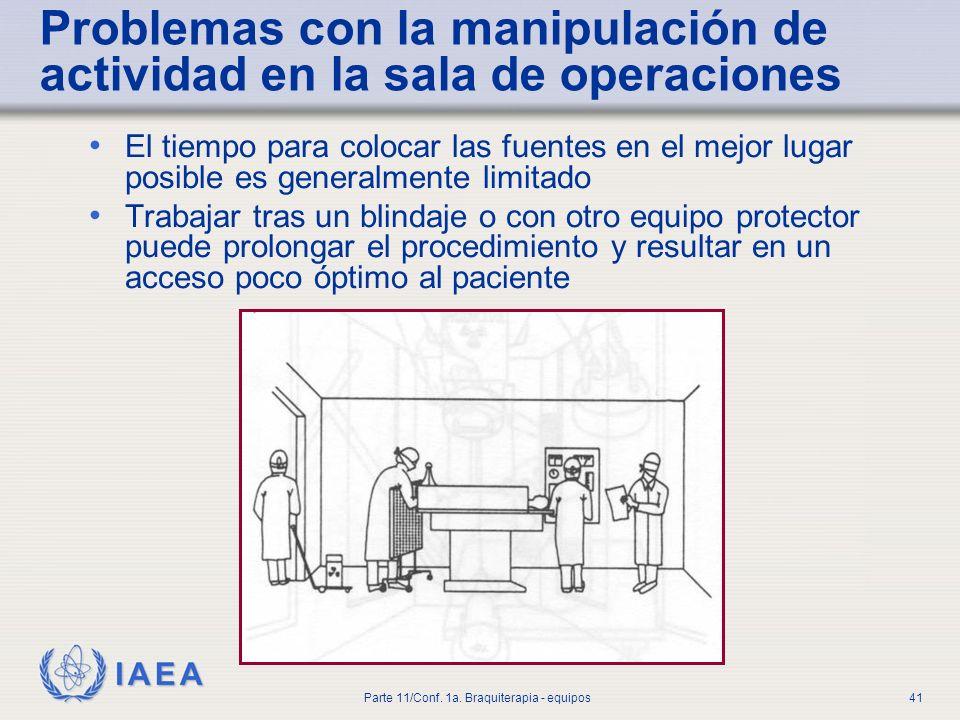 Problemas con la manipulación de actividad en la sala de operaciones