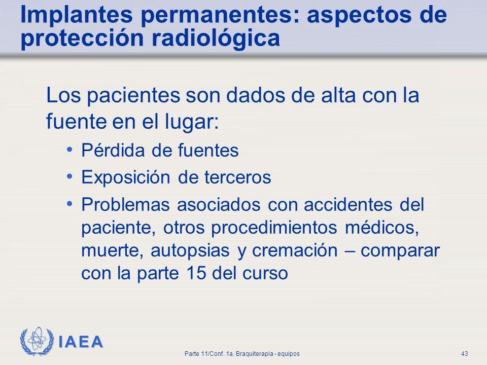 Implantes permanentes: aspectos de protección radiológica