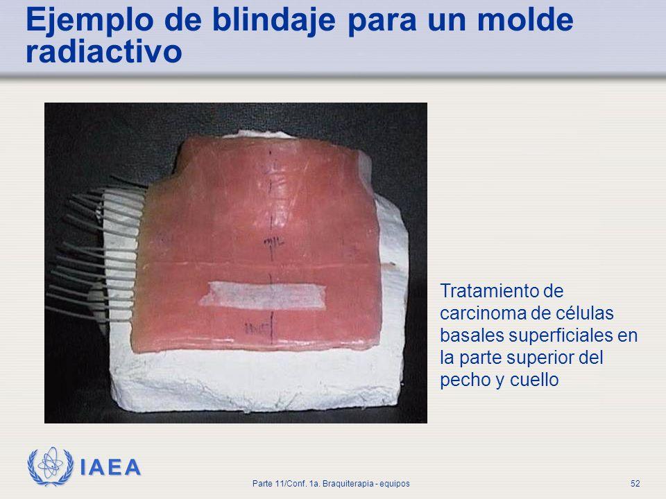 Ejemplo de blindaje para un molde radiactivo