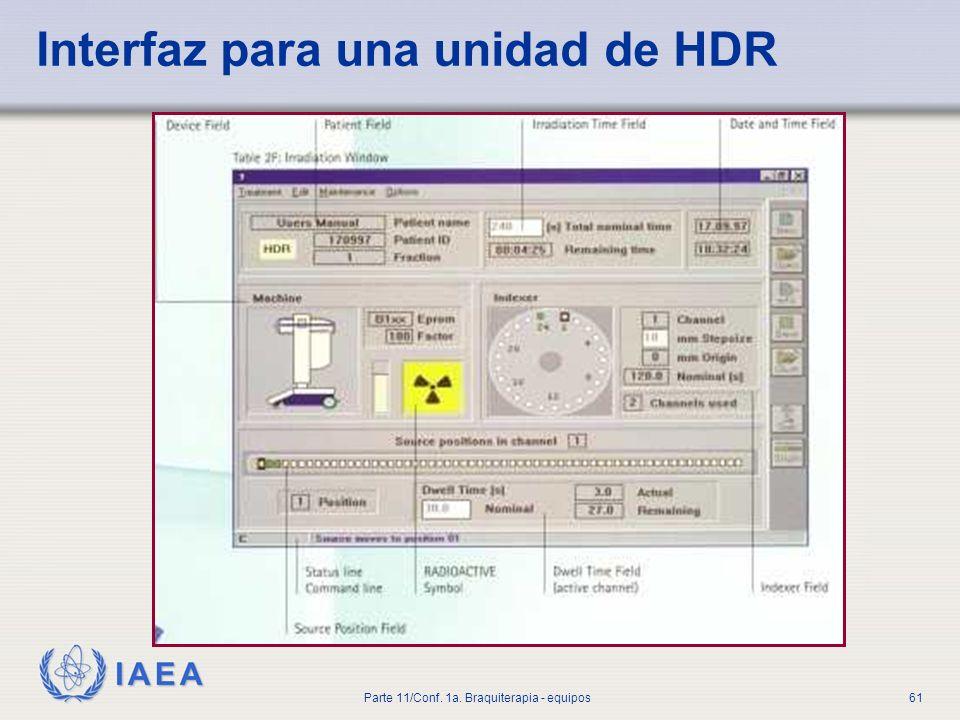 Interfaz para una unidad de HDR