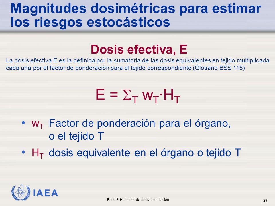 Magnitudes dosimétricas para estimar los riesgos estocásticos