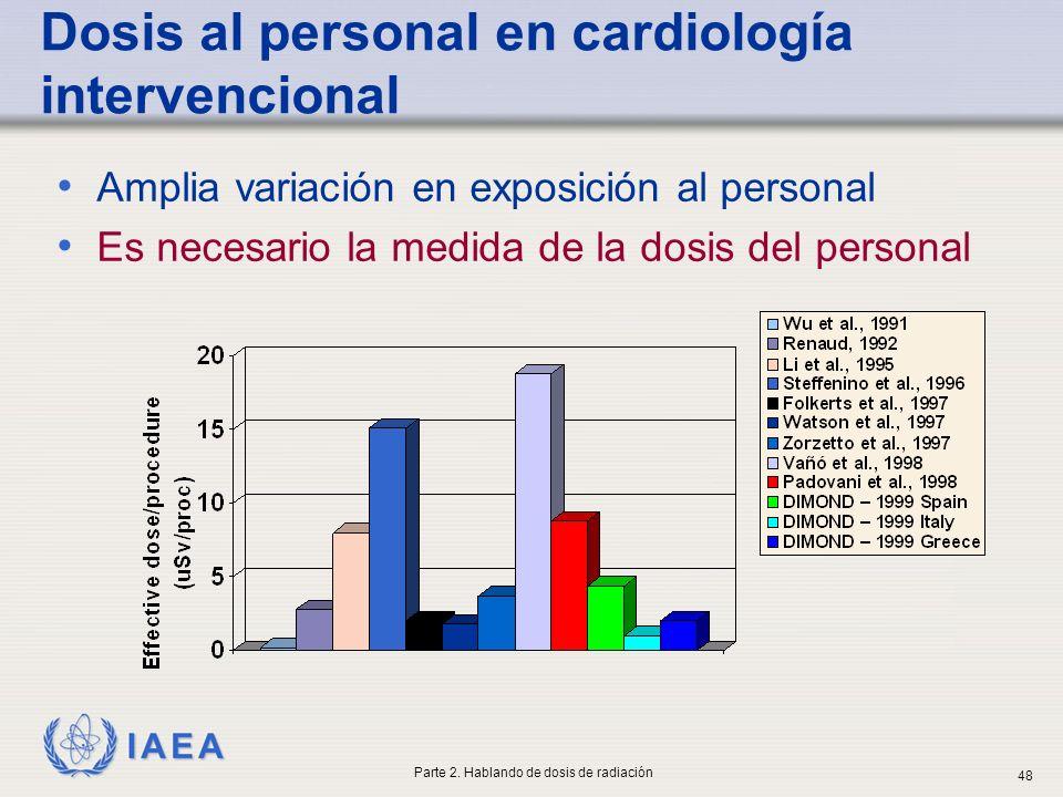 Dosis al personal en cardiología intervencional