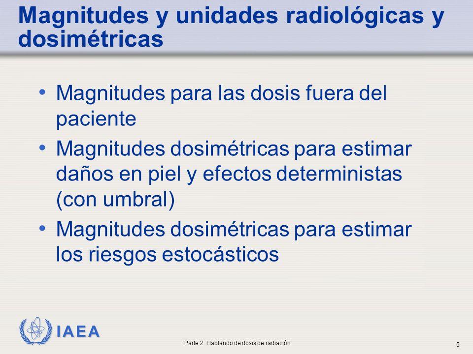 Magnitudes y unidades radiológicas y dosimétricas