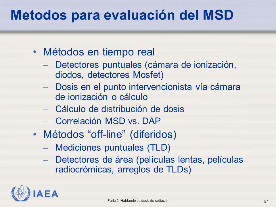 Metodos para evaluación del MSD