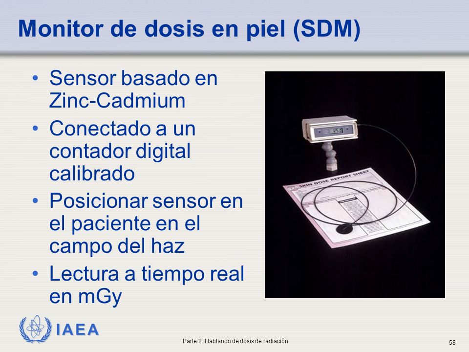 Monitor de dosis en piel (SDM)
