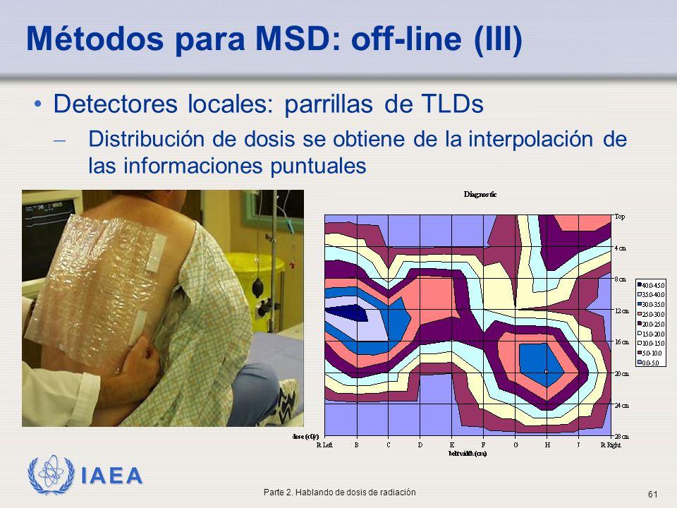 Métodos para MSD: off-line (III)
