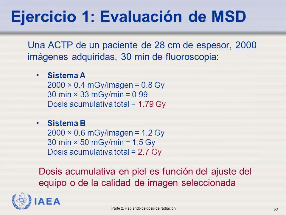 Ejercicio 1: Evaluación de MSD
