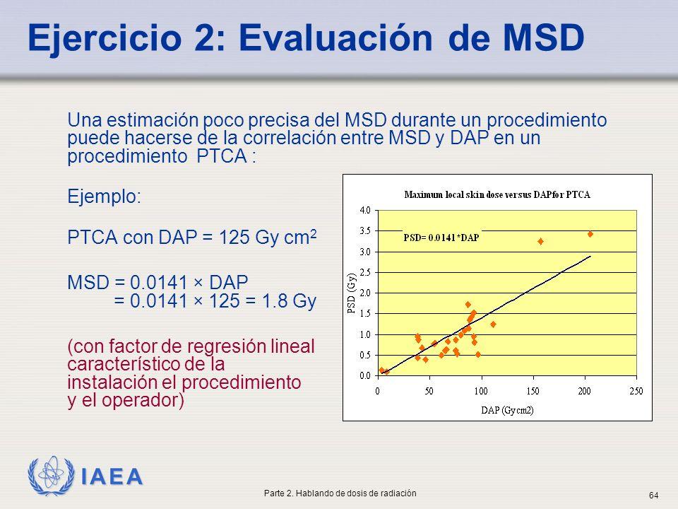 Ejercicio 2: Evaluación de MSD