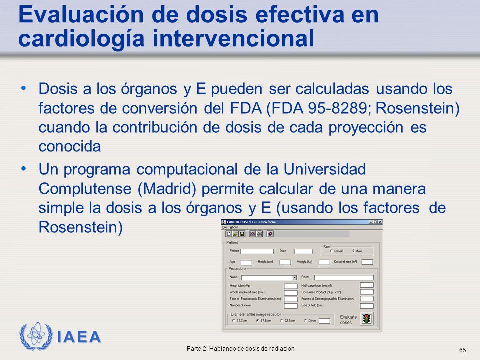 Evaluación de dosis efectiva en cardiología intervencional