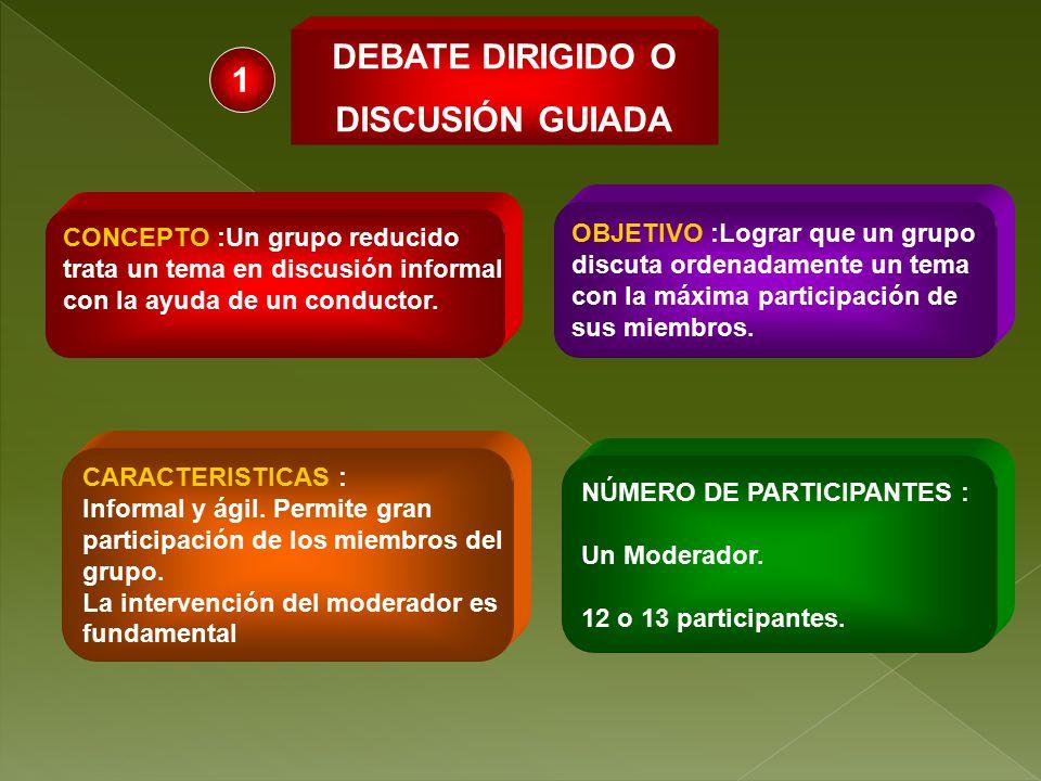 DEBATE DIRIGIDO O DISCUSIÓN GUIADA 1