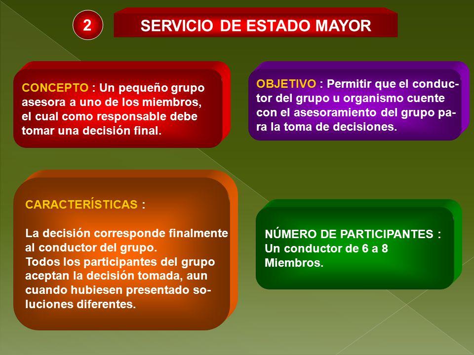 SERVICIO DE ESTADO MAYOR