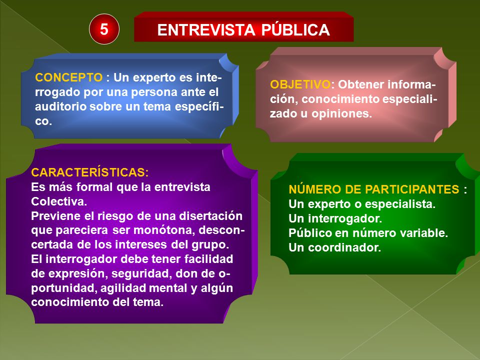 5 ENTREVISTA PÚBLICA OBJETIVO: Obtener informa-