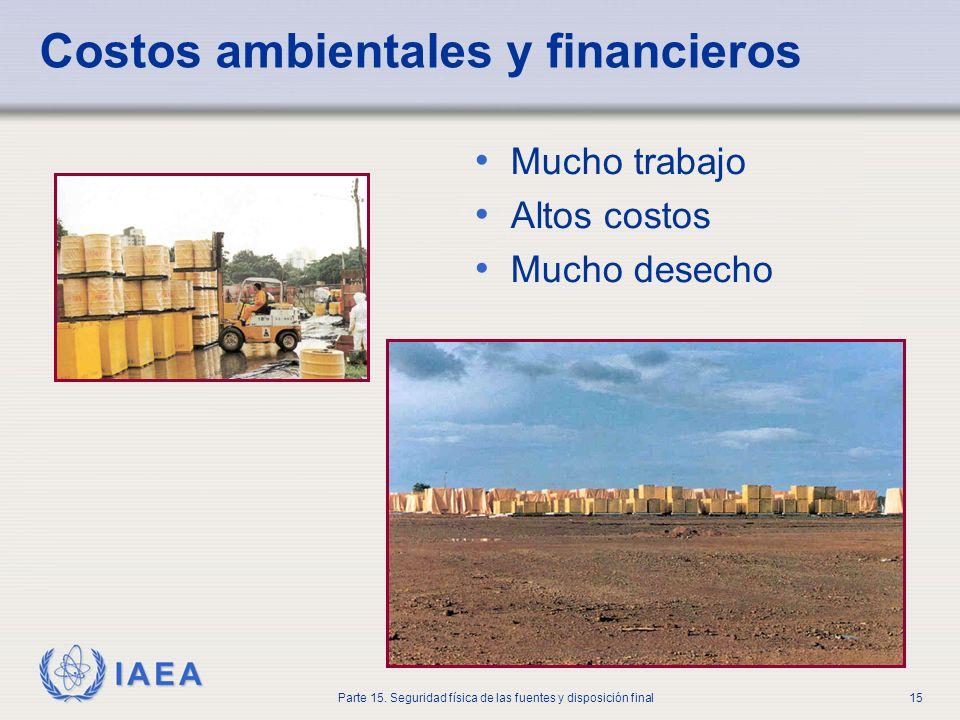 Costos ambientales y financieros