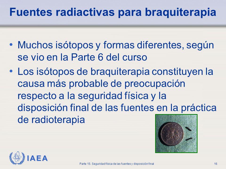 Fuentes radiactivas para braquiterapia