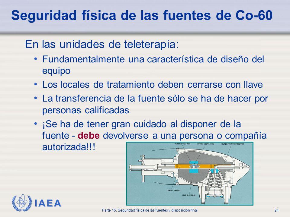 Seguridad física de las fuentes de Co-60