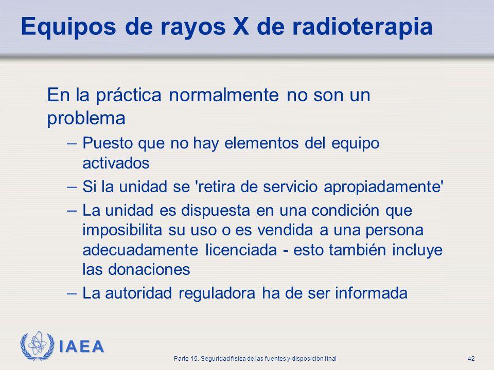 Equipos de rayos X de radioterapia
