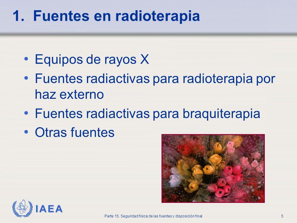 1. Fuentes en radioterapia