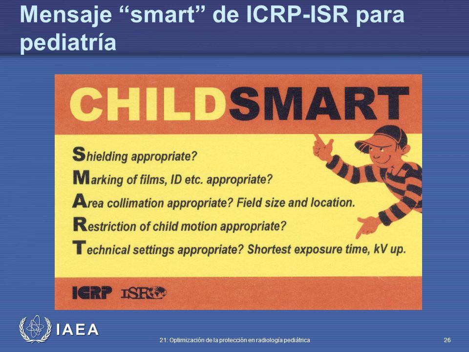 Mensaje smart de ICRP-ISR para pediatría